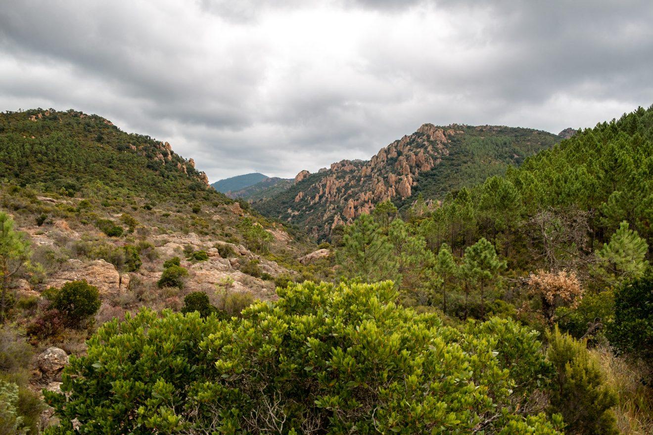 der Ausblick von der Ebene am Col Aubert