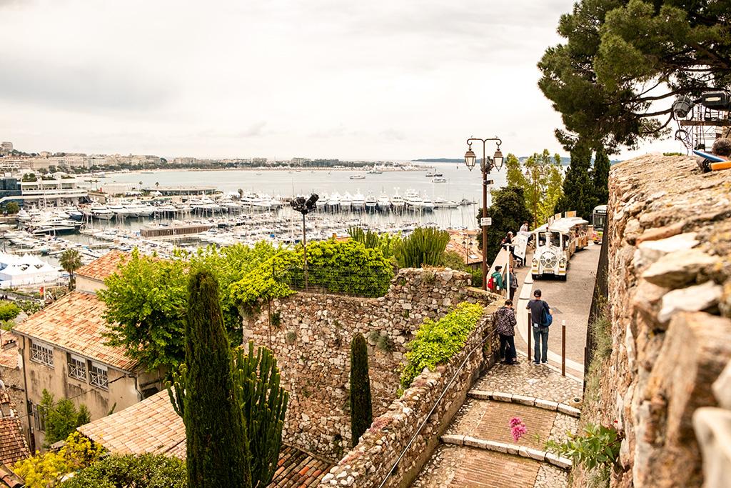 Ausblick über Cannes